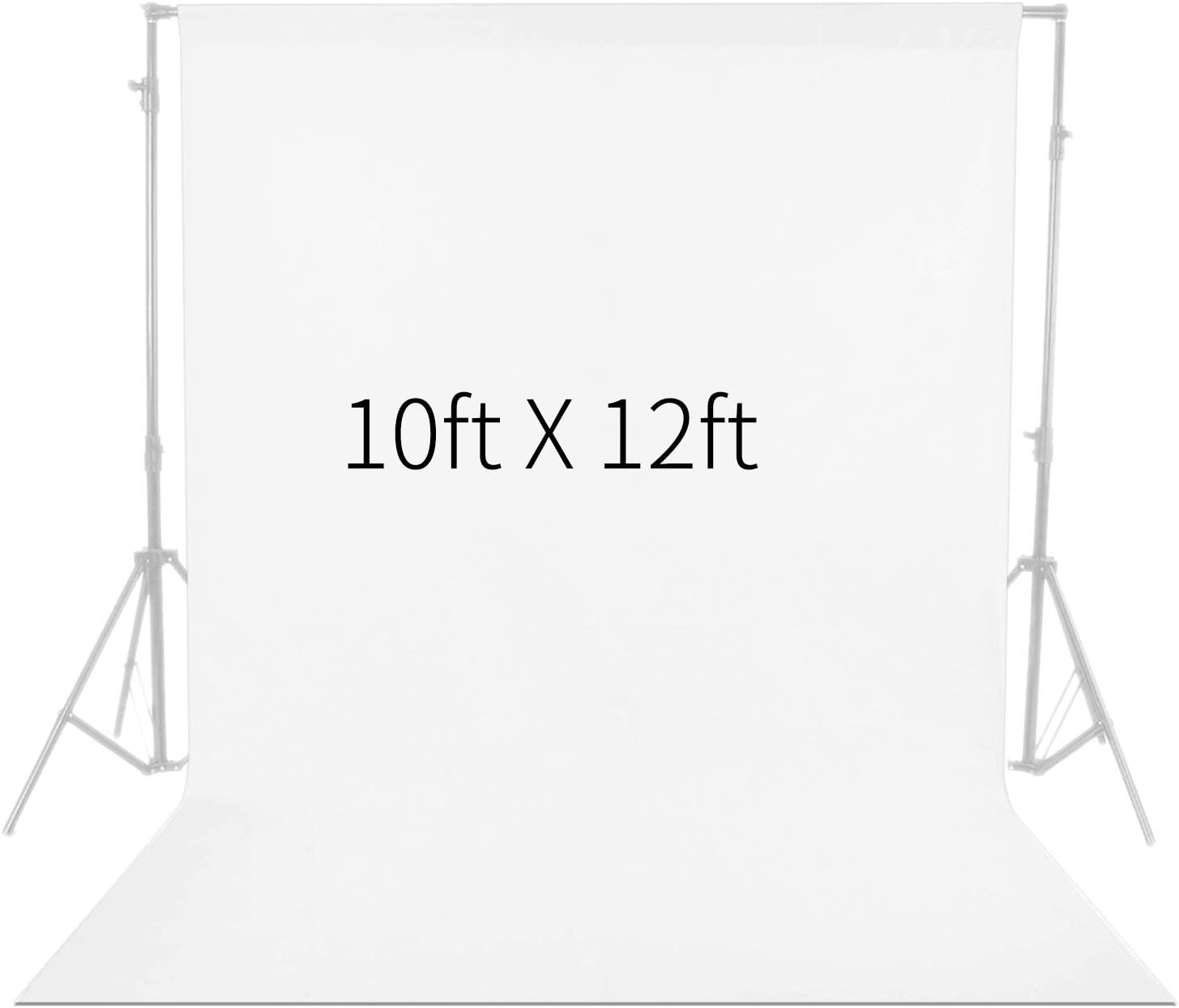 Neewer 10 x 12FT / 3 x 3.6M PRO Photo Studio Fabric Collapsible Backdrop Background for Photography,Video and Televison (Background ONLY) – White