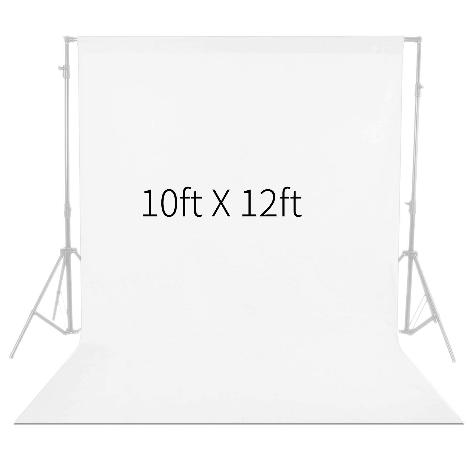 Neewer 10 x 12FT / 3 x 3.6M PRO Photo Studio Fabric Collapsible Backdrop Background for Photography,Video and Televison (Background ONLY) - White by Neewer (Image #1)