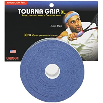 Unique Tourna Grip, XL, Original Dry Feel Tennis Grips (30 Grips)