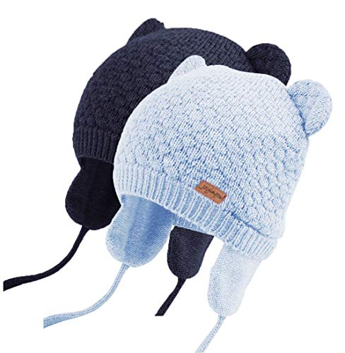 Joyingtwo Soft Warm Knit Todder Cute Bear Baby Beanie Hat with Ear Flap