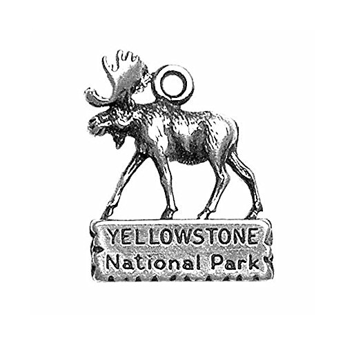 Sterling Silver One-Sided Yellowstone Moose Charm Item #1670