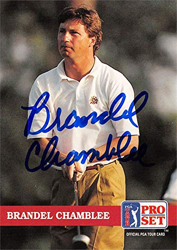 (Brandel Chamblee autographed trading card (Golf, PGA Tour, Texas Longhorns, SC) 1992 Pro Set #132)