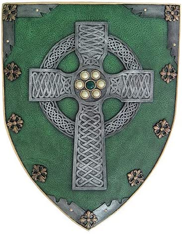 Pacific Giftware Celtic Cross Warriors Faith Shield Wall Sculpture Decor