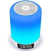【2019最新版 Bluetooth 5.0】【光+音!ランプ+ワイヤレススピーカー+目覚まし時計!】 Arbily 18ヶ月品質保証,ベッドサイドランプ 常夜灯, ワイヤレススピーカー 卓上ランプ タッチランプ 夜間ライト 照明ランプ usb充電 良いギフト