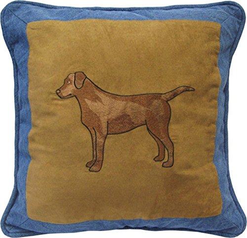 Denim Square Decorative Dog Pillow by