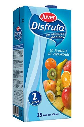 Juver - Bebida Refrescante Sin Azúcar 10 Frutas + 10 Vitaminas 2L - Pack de 6