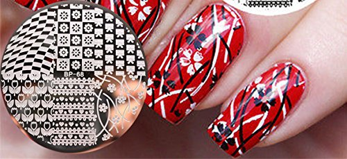nail art stamping bild metal platte nail art design muster vorlage dreieck ap77 fashionlife amazonde beauty - Nailart Muster