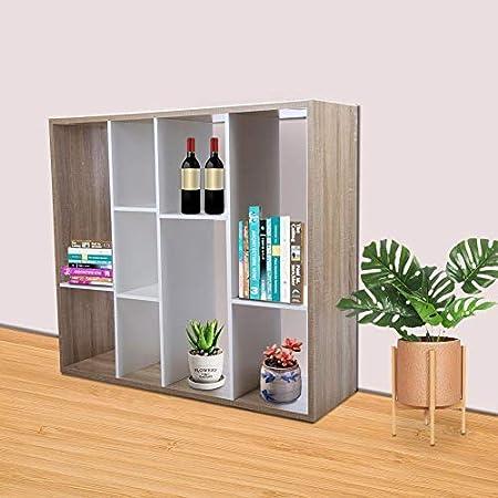 Ausla Librería de Madera con 9 Cubos Abiertos y estantes, estantería Independiente y Armario de exposición, para salón, Dormitorio, habitación y Oficina, 100,5 x 32 x 90 cm: Amazon.es: Hogar