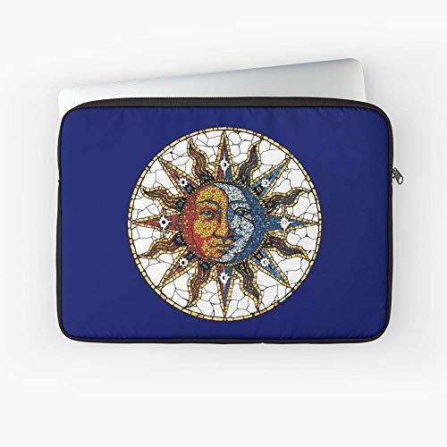 Celestial Mosaic Sun and Moon Coaster Laptop Sleeve - Best Gift for Family Friends