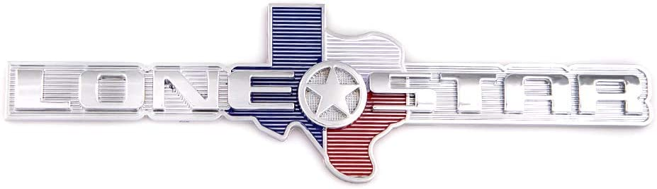1x Lone Star Emblem Edition Texas Tailgate Replacement For Ram 1500 2500 3500 Chevrolet Chevy F150 silver