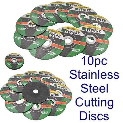 "10 x Flat Discs 120 Grit For Angle Grinder 4.5/"" 115mm Flat Sanding Grinding"