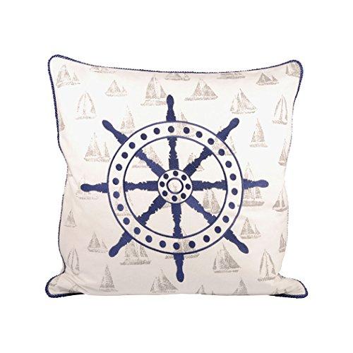 Traditional Décor Collection Captains Wheel 20x20 Pillow
