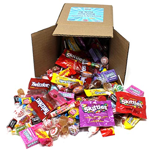 Everybody's Favorite Brand Name Candy Mix Gift Box, 3 Pound Box of Tootsie, Nerds, Jolly Rancher, Skittles, Gobstopper & More By CrazyOutlet