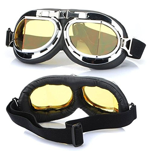 Hot Sale Steampunk Gothic Goggles Flying Scooter Helmet Glasses Cool Steampunk Goggles Glasses Cosplay Welding