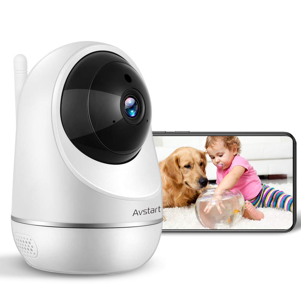 Wireless Home Security Camera Indoor, Pet Camera 1080P, WiFi Dog Camera, Baby Monitor with Two Way Audio and Motion Detection