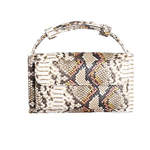 NEW Fashion Snake Skin Bags Women Handbag New Women's Messenger Bags Designer Leather Shoulder Bag Python Yellow