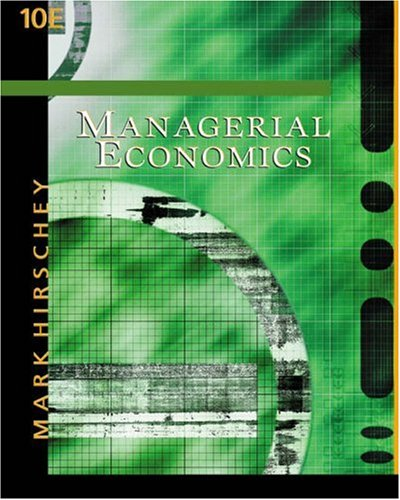 Managerial Economics with InfoTrac College Edition