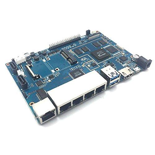 GeeekPi Banana Pi R2 BPI-R2 Quad-Code ARM Cortex-A7 SATA Interface Development Board