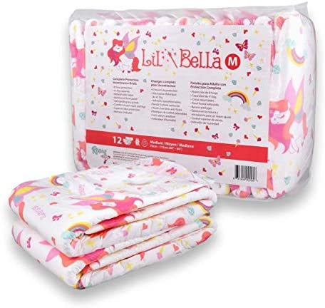Rearz - Lil' Bella - Adult Diapers - Cotton Candy Scented (12 Pack) (Large)