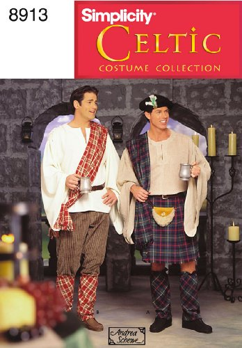 Simplicity Sewing Pattern 8913 Men Costumes, AA - Patterns Costume Celtic