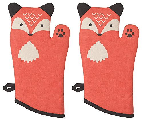 Now Designs 2032002aa Critter Oven Mitt, Set of Two, Freddy Fox, 2 Piece