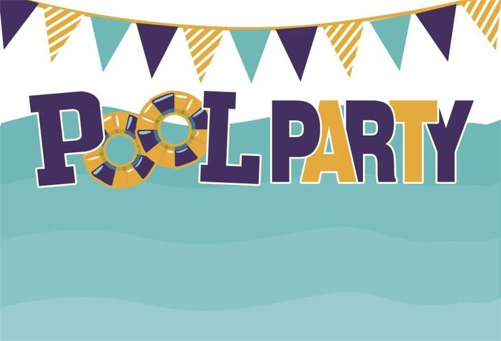 OIFLA Swimming Pool Photos Backdrop 5x3ft Polyester Fabric Summer Festival Photography Background Holidays Party Travel Photos Paradise Background Props