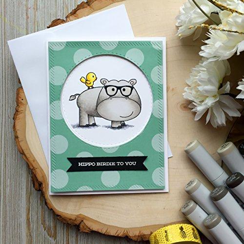 Funny Birthday Card - Handmade Hippo Card, Happy Birthday, Humorous Birthday Card, Hippo Birdie To You, Friend Birthday Cards, Greeting Card (Birdie Greeting Cards)