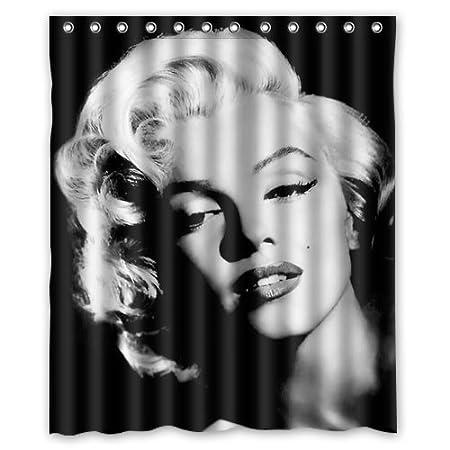 New Custom MARILYN MONROE Bathroom Waterproof Fabric Shower Curtain 60 x 72 Inch