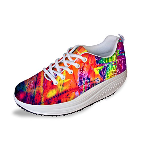 Women's Toning Platform Style 2 Bigcardesigns High Fitness Walking Shoes RxwpZ