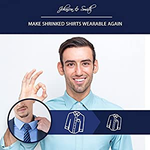 """Johnson & Smith Collar Extenders/Neck Extender/Wonder Button for 1/2 Size Expansion of Men Dress Shirts, 5 +1 Pack, 3/8"""""""