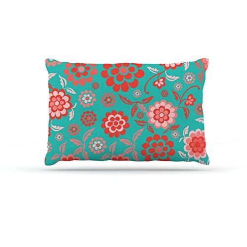 Kess InHouse Nicole Ketchum Cherry Floral Sea  Fleece Dog Bed, 30 by 40-Inch