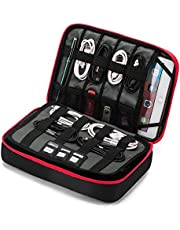 """BAGSMART 3-layer Large Travel Cable Organizer Electronics Accessories Case for 9.7"""" iPad, Kindle, External Hard Drives, Cables"""