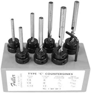 product image for #1 Set of Countersinks with Taper Point Drills in Wood Block