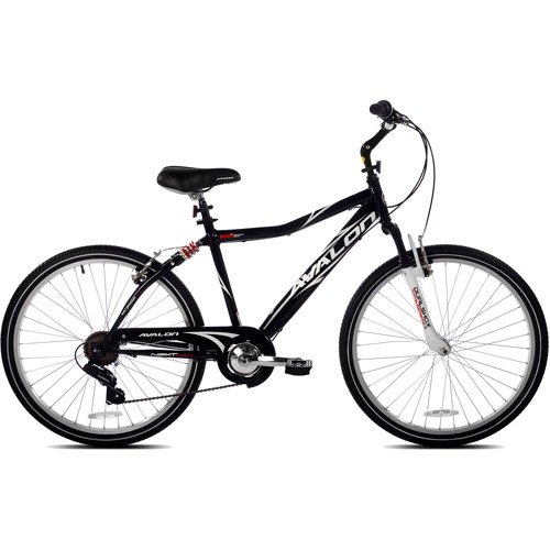"26"" Next Avalon Men's Comfort Bike with Full Suspension, Bla"