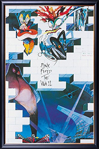 FRAMED Pink Floyd - The Wall - Cover 24x36 Poster Dry Mounte