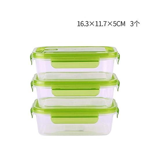 IHOUSE Caja de almacenamiento de refrigerador rectangular x3 ...