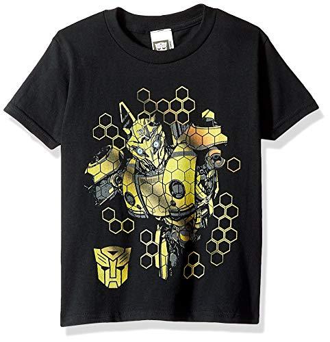 Transformers Bumblebee Movie Boys Short Sleeve T-Shirt, Black M-10/12]()