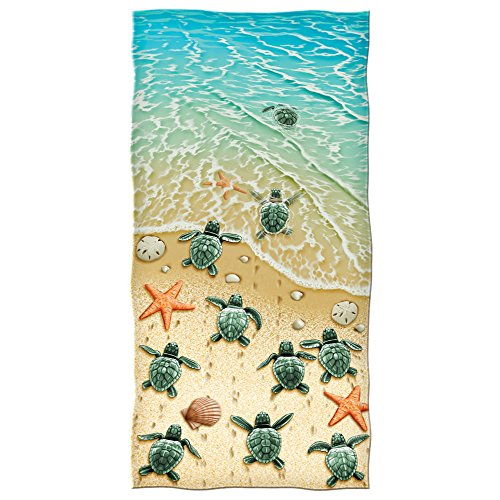 Dawhud-Direct-Turtles-on-the-Beach-Cotton-Beach-Towel