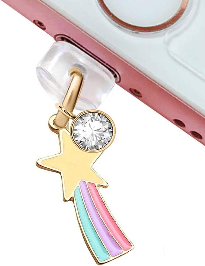 CP186 USB Charging Port Anti Dust Plug Cute Fairy Wand Star Pendant Phone Charm for iPhone 11/ XS MAX/XR/X/8 Plus/7/6S/7/SE iPad iPod