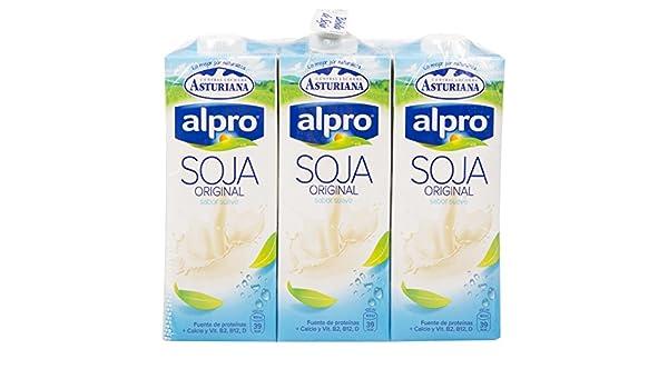 Alpro Central Lechera Asturiana Bebida de Soja Original - Paquete de 6 x 1000 ml - Total: 6000 ml: Amazon.es: Alimentación y bebidas
