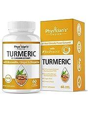 Organic Turmeric Curcumin C3 Complex - Bioperine Black Pepper, Boswellia & Ginger (Clinically Proven C3 Turmeric) 95% Standardized Curcuminoids - Inflammation & Joint Supplement, 60 Capsules