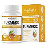 Organic Turmeric Curcumin C3® Complex - Bioperine Black Pepper, Boswellia & Ginger - [Clinically Proven C3 Turmeric] - 95% Standardized Curcuminoids - Inflammation & Joint Supplement, 60 Capsules