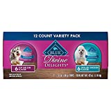 Blue Buffalo Blue Divine Delights Pate Top Sirloin Grilled Chicken Variety Pack Dog Food - 3.5 oz. - Case of 12