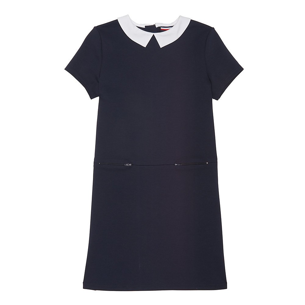 French Toast Girls Stretch Woven Collar Dress