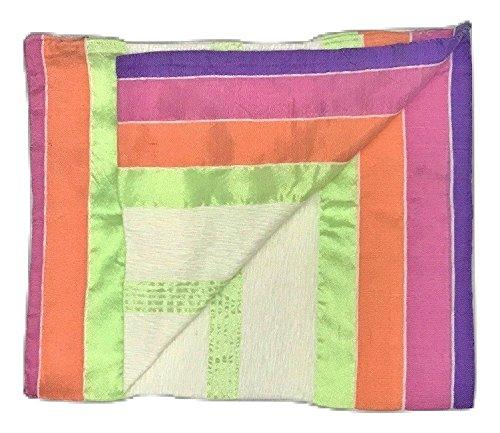 100% Cotton & Silk Handmade Moroccan Pillowcases in Multi/White – Set of 2