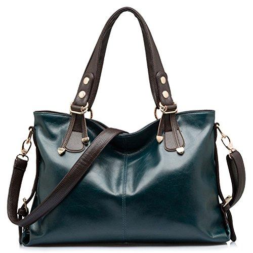 BlueVega Women handbag - Sac à Main Fourre-tout Hobo Sac Messenger Rétro Femme Luxe Sacs Portés bleu