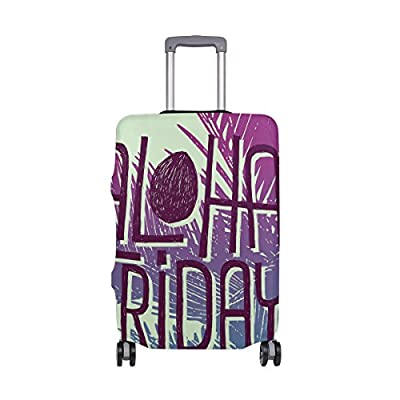 Color : Picture3 , Size : M-200g Travel Luggage Covers fit most 18-32 inch,Printing Suitcase Protector Spandex and polyester Protectors