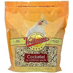 Volkman Seed Avian Science Super Cockatiel No Sunflower 4lb