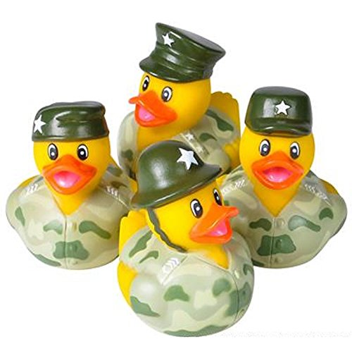 CAMO ARMY RUBBER DUCKIES. 24 PIECES.