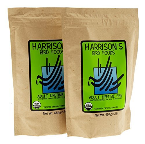 Harrisons Adult Lifetime Fine Bird Food Pellets 1lb (Pack of 2)